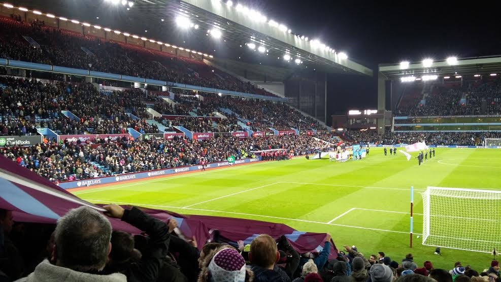 Trinity Road Stand Villa Park - Night - Taken from Holte End.