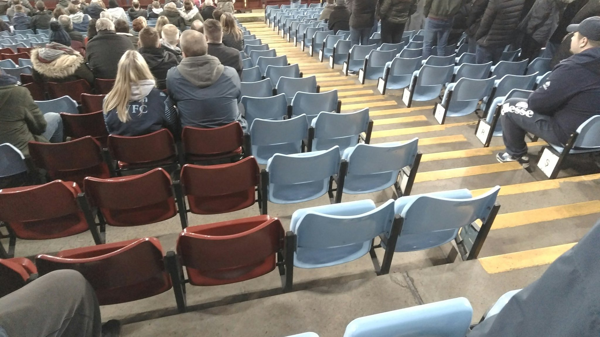 Empty seats Villa park