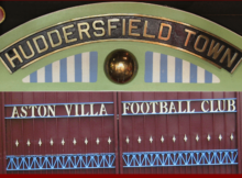 Huddersfield Town Aston Villa : Photo Credit Huddersfield Town nameplate : Flickr : Tony Hisgett