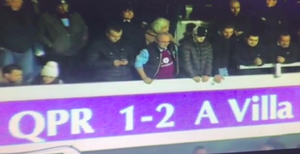 Loftus Road - Aston Villa Fans - 2-1 - 2017