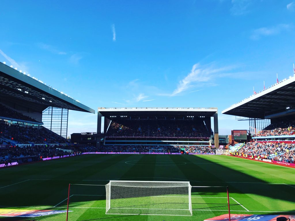 Villa Park: Aston Villa fans sing Dean Smith's Claret and Blue Army