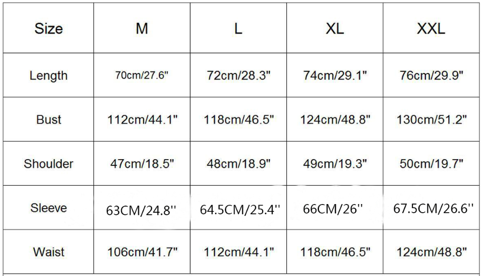 Christmas Jumper Sizing Information