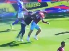 Jack Grealish attacked : Birmingham City v Aston Villa St Andrews
