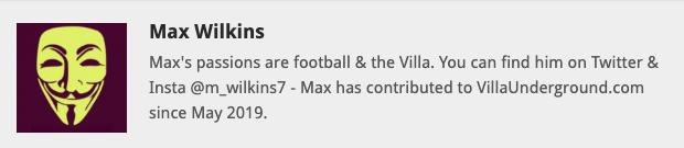 Max Wilkins Bio Villa Underground