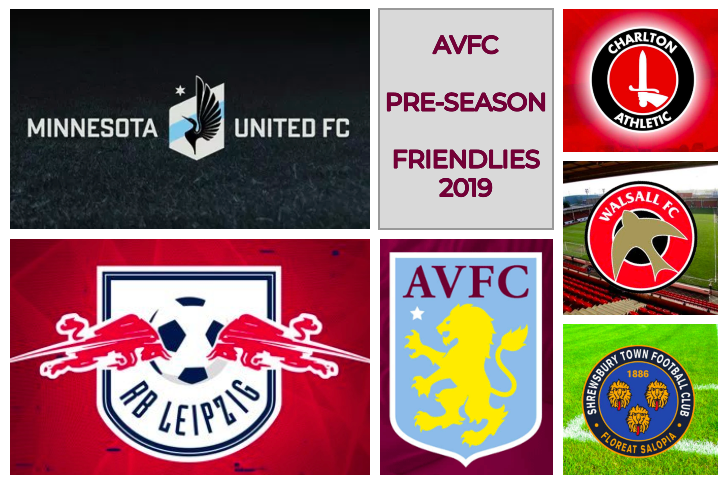AVFC Pre-season friendlies 2019