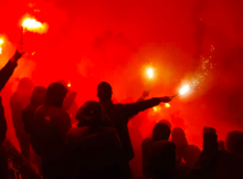 Aston Villa Norway Faroe Islands Pyro