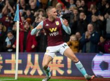 Conor Hourihane scores against Newcastle United at Villa park