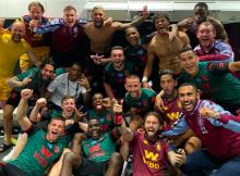 Aston Villa West Ham Team Photo Premier League survival