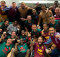 Aston Villa West Ham Team Photo Premier League survival