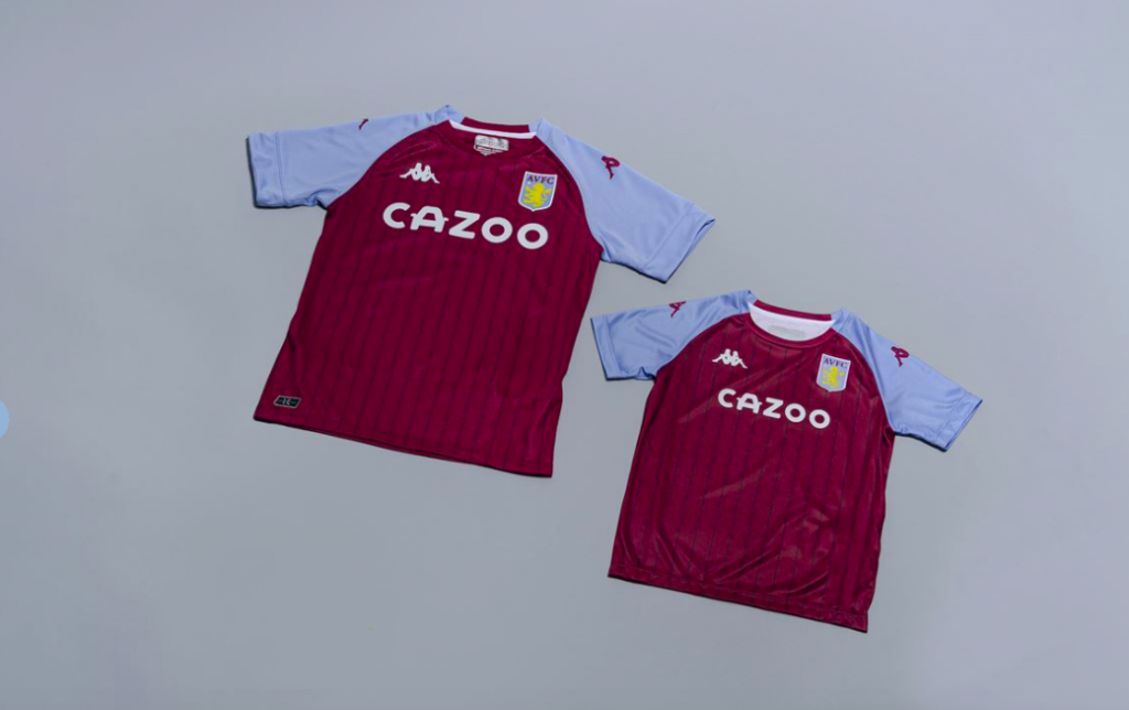 Aston Villa new kit 2020 / 2021 Cazoo