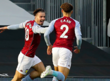 Jack Grealish Matty Cash Fulham Aston Villa